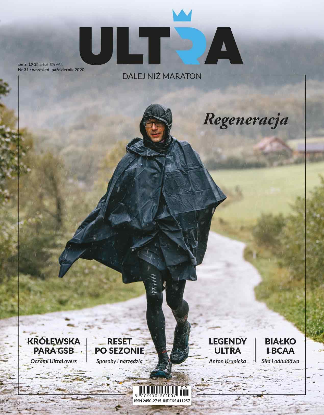 Biegacz w deszczu - okładka Magazynu Ultra