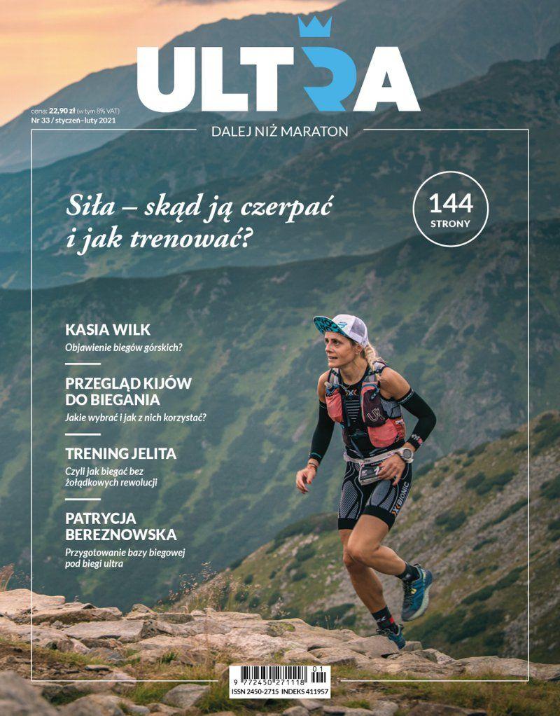 biegaczka na tle gór - okładka magazynu Ultra